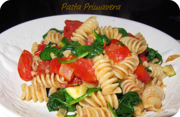 Mission Meatless – Pasta Primavera | She's Cookin' | from the heart