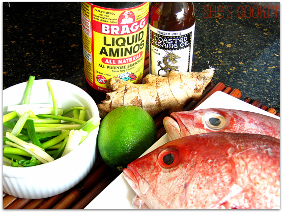 Grilled Whole Fish with Soy Ginger Sauce | She's Cookin' | from the ...