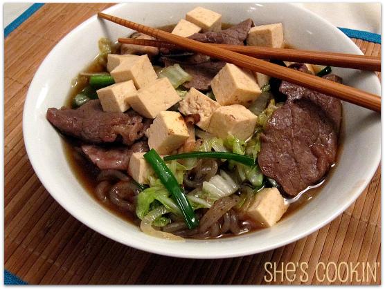 Sukiyaki with Tofu and Shirataki Noodles | She\'s Cookin\' | food and ...