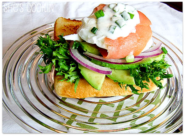 Salmon Wrapped Poached Eggs-