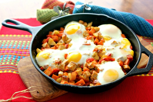 Sweet Potato, Pork and Apple Skillet Hash - ShesCookin.com