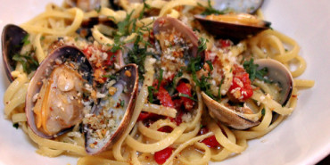 Cucina Enoteca, clams and linguine