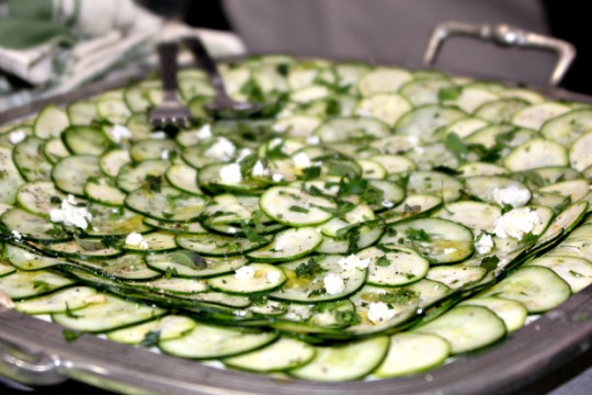 cucumber and zucchini carpaccio
