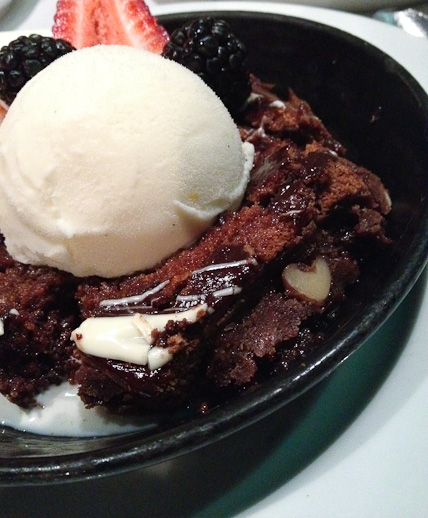 Lucca Cafe, brownie sundae