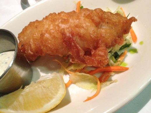 Lucca Cafe, tempura sand dabs, fennel slaw