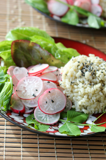 Asian Radish Salad, radish salad, Lotus Foods, Jade Pearl Rice
