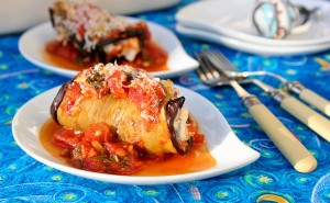 Eggplant Rolls with Yogurt Cheese