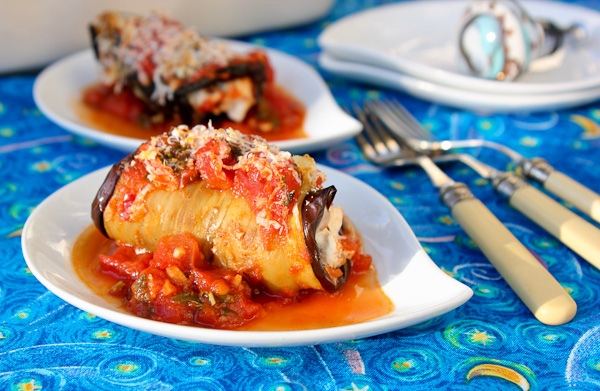 Eggplant Rolls with Yogurt Cheese, boureki