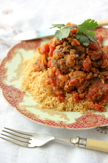 Moroccan Kefta with Charmoula