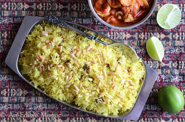 Saffron Rice, Edible Mosaic