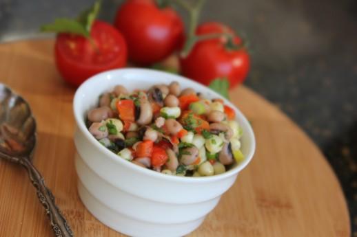 Hoppin' John, blackeyed pea salsa