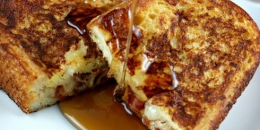 Gruyere and Bacon Stuffed French Toast, stuffed french toast