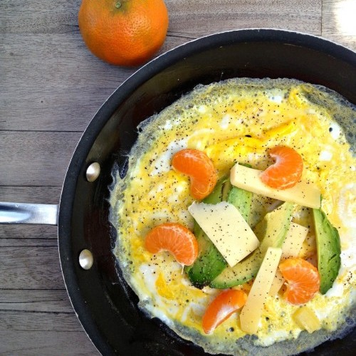 Mother's  Day Brunch - California Omelet with Avocado and Tangerine