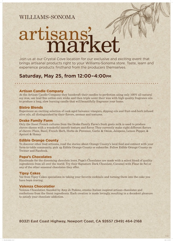 Williams Sonoma Artisan Market