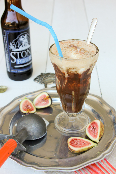 Fig and Chocolate Beer Float
