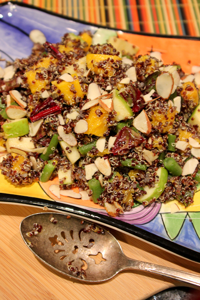 Autumn apple, quinoa, butternut squash salad