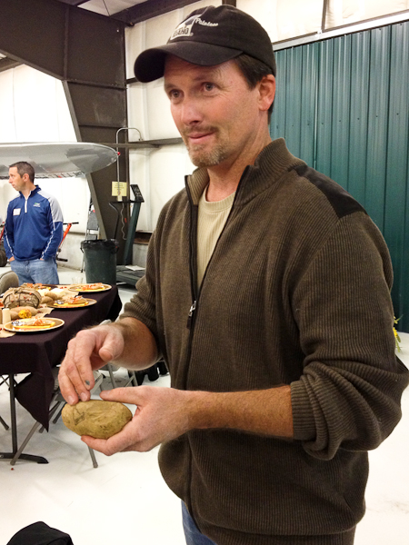 "James Hoff demonstrates how to ""bloom"" a baked potato, perfect baked potato"
