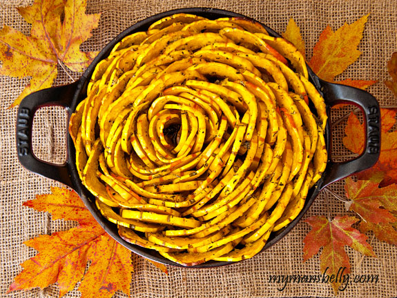 Roasted Delicata Squash, Thanksgiving