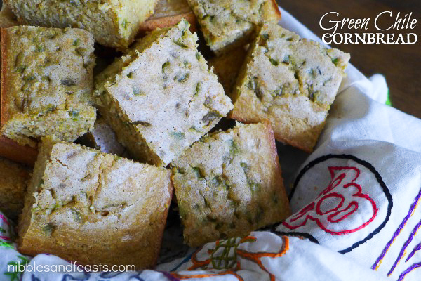 Green Chili Cornbread, Thanksgiving