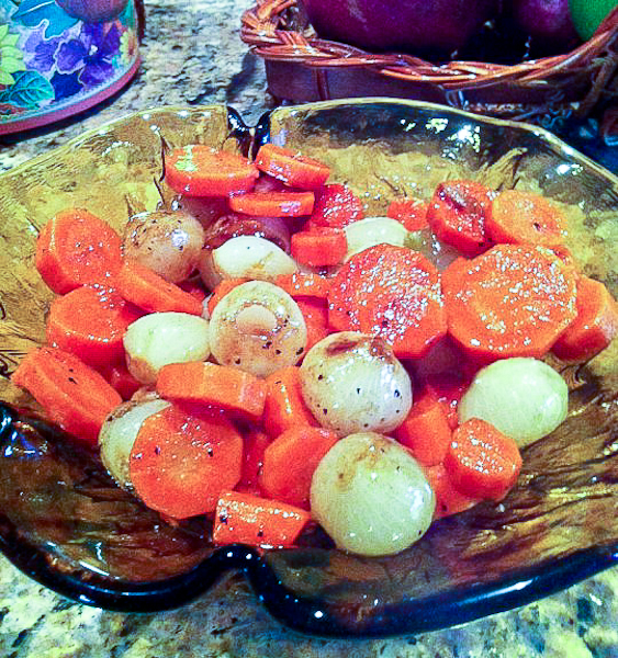 Braised Carrots and Pearl Onions