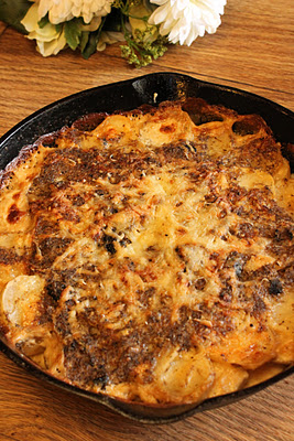 Truffled potato gratin, Thanksgiving sides