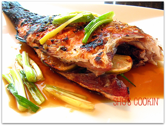 Grilled Whole Fish for Chinese New Year