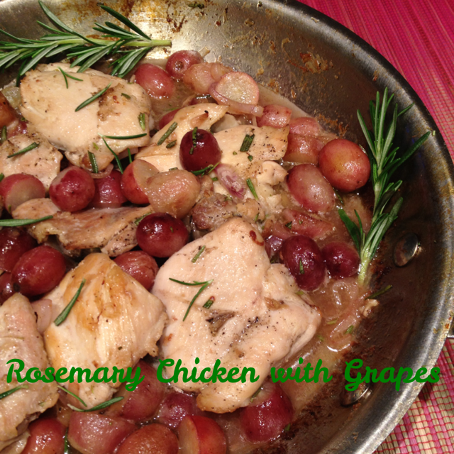 Rosemary Chicken with Muscato Grapes
