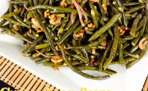 Chinese Long Beans, Smoky date, tamarind sauce