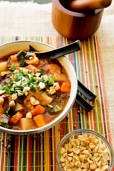 African Potato & Cauliflower Stew, vegetarian stew, African stew