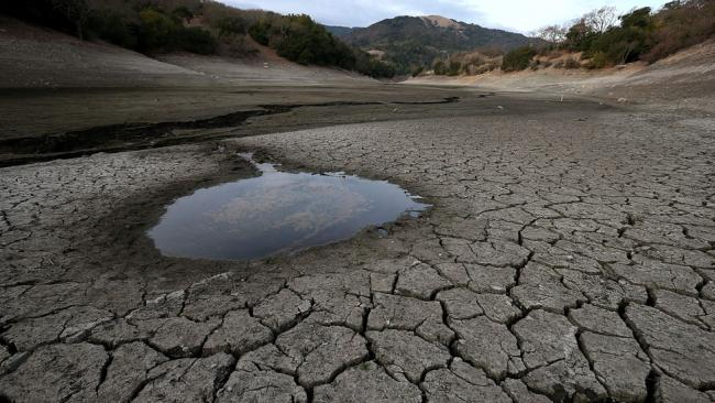 Getty Images - Almaden Reservoir, California drought