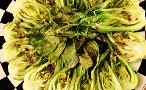 bok choy, roasted bok choy, asian greens