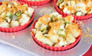Cauliflower Mac & Cheese Muffins, Low Carb Mac & Cheese, Gluten Free Mac & Cheese