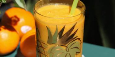 tangerine turmeric smoothie, energy smoothie, turmeric