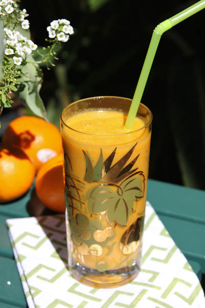 tangerine turmeric smoothie, energy smoothie, turmeric