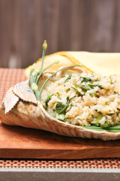 Baby Bok Choy Risotto, lettuce risotto