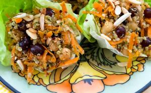 Carrot, Quinoa, Chickpea Salad