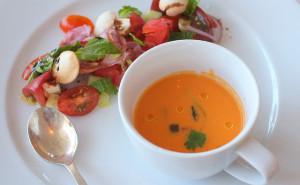 Tomato Watermelon Gazpacho, Tomato Fattoush Salad