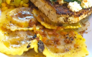 Swordfish and Pumpkin Ravioli