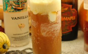 Maple Vanilla Beer Float, Oktoberfest, Halloween cocktails