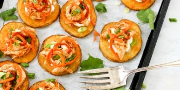 Sriracha Chicken Potato Skins