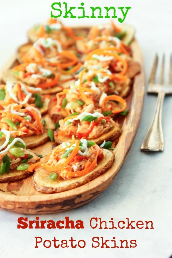 Skinny Sriracha Chicken Potato Skins | She's Cookin ...