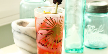Bombay Sapphire Blackberry Meyer Lemon Tom Collins