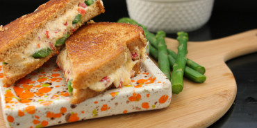 Pimento Cheese & Asparagus Grilled Cheese Sandwich-