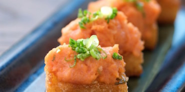 Sushi Roku Hanabi , spicy tuna on crispy rice