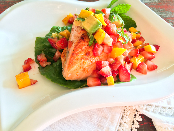King Salmon with Limoncello Fruit Salsa | She's Cookin' | from the ...