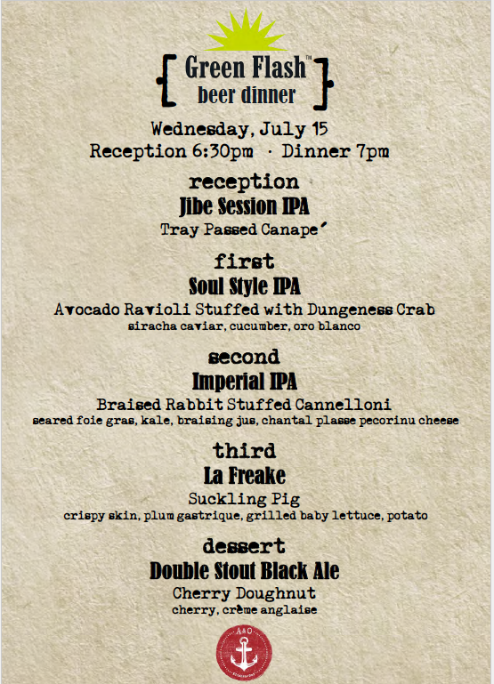 Green Flash Beer Dinner At Balboa Bay Resort She 39 S Cookin 39 From The Heart