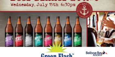 Green Flash Brewing Co. beer pairing dinner